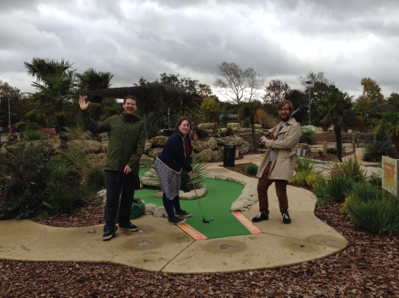 Dinosaur-themed adventure golf!