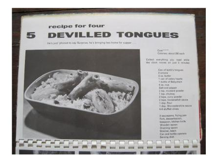A page from an actual recipe book I own. Frankly this is one of the least unappetising recipes.