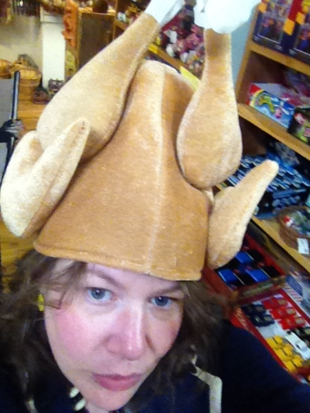 NM ABQ chicken hat