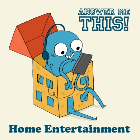 Home Entertainment art logo beige